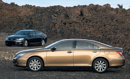 2007 Lexus ES350 and GS450h