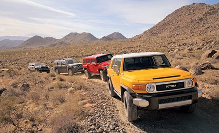 2006 Hummer H3 vs. 2006 Jeep Grand Cherokee, 2006 Nissan Xterra, 2007 Toyota FJ Cruiser