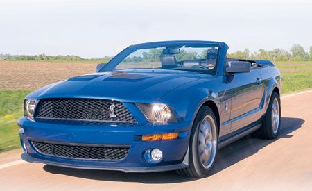 2007 ford mustang shelby gt500 convertible short take road test review car and driver. Black Bedroom Furniture Sets. Home Design Ideas