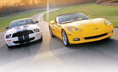 Chevrolet Corvette Vs Ford Mustang Shelby GT - Chevrolet ford