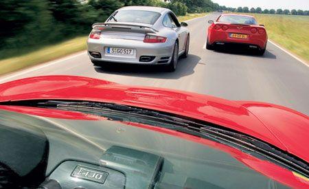 2006 Chevrolet Corvette Z06 vs. 2006 Ferrari F430, 2007 Porsche 911 Turbo