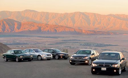 2006 Jaguar Super V-8 vs. 2007 M-B S550, 2006 Audi A8L, 2007 Lexus LS460L, 2006 BMW 750Li