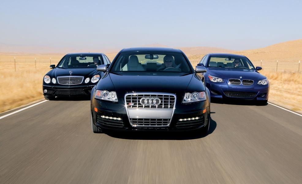 2007 Audi S6 Vs Bmw M5 M B E63 Amg Comparison Test Car And Driver