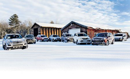 BMW X5 vs. Acura MDX, Cadillac SRX, M-B ML350, Lexus GX470, Volvo XC90, VW Touareg, Land Rover LR3