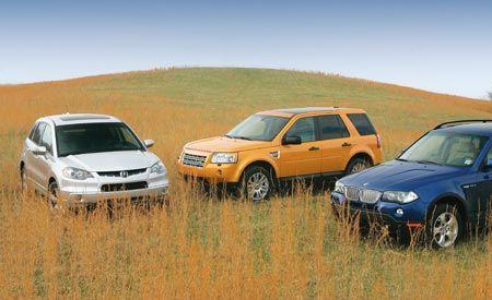 2007 BMW X3 vs. 2007 Acura RDX, 2008 Land Rover LR2