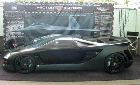 Vector Avtech WX-8 HPV   Auto Shows   News   Car and Driver