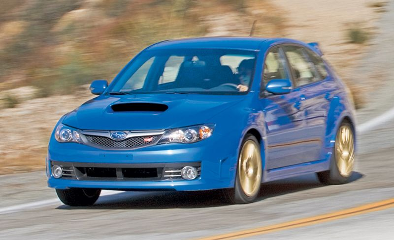 2008 subaru impreza wrx sti road test review car and driver. Black Bedroom Furniture Sets. Home Design Ideas