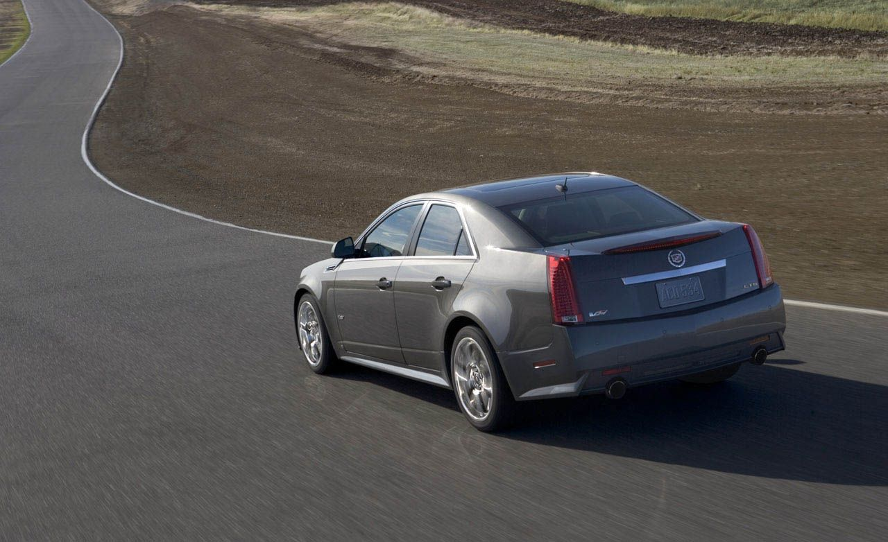 2009 cadillac cts v outruns the bmw m3 and m5 at the ring