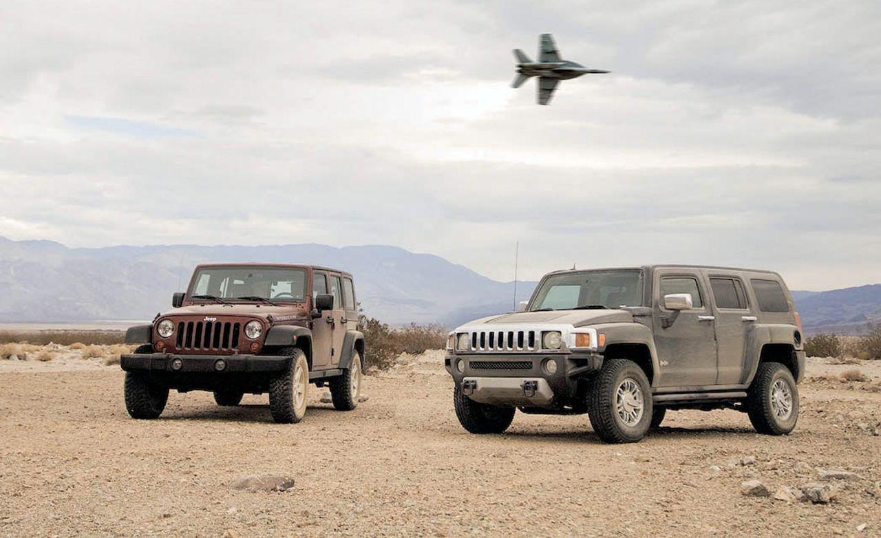 2008 Hummer H3 Alpha vs. 2008 Jeep Wrangler Unlimited
