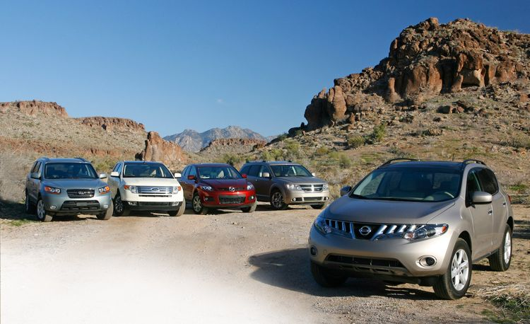 2009 Nissan Murano vs. Ford Edge, Dodge Journey, Mazda CX-7, and Hyundai Santa Fe