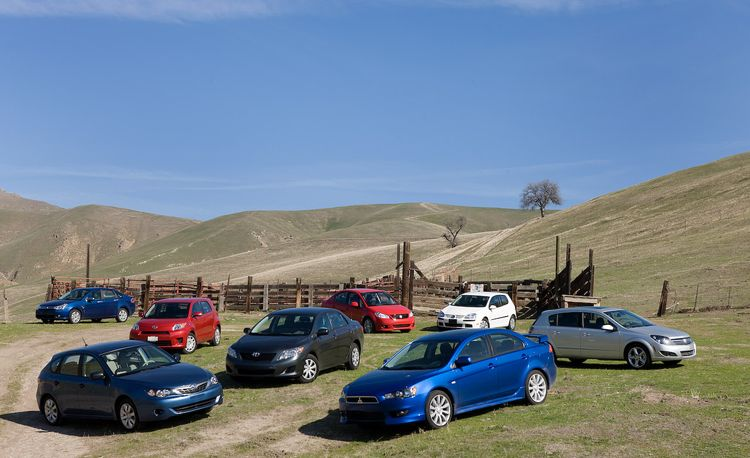 2009 Toyota Corolla vs. Ford Focus, VW Rabbit, Subaru Impreza, and Four More Economy Cars