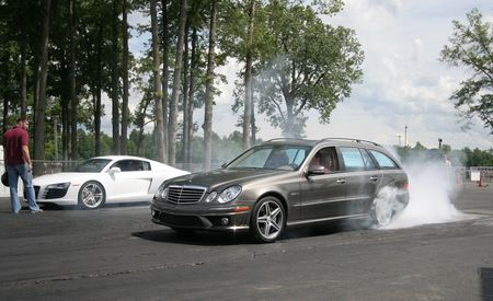 Mercedes-Benz E63 AMG Wagon vs. Audi R8