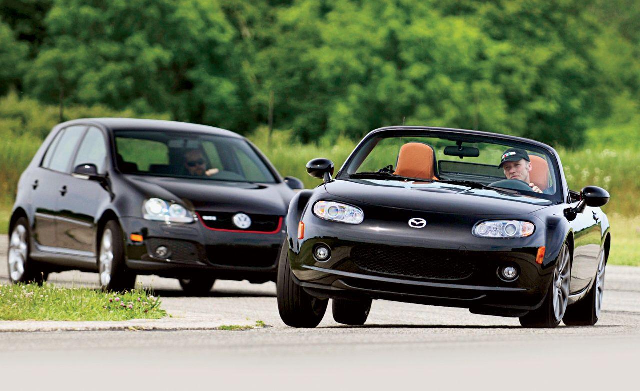 2008 Mazda MX-5 Miata and Volkswagen GTI