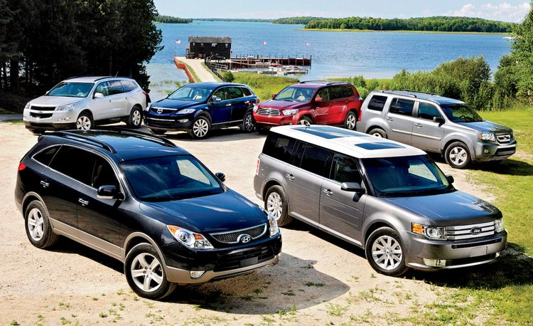 2009 Honda Pilot vs. Ford Flex and Four Other Crossovers