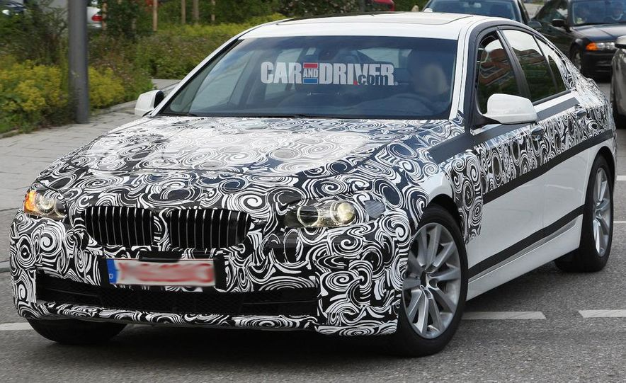 2011 BMW 5-series sedan (spy photo) - Slide 2