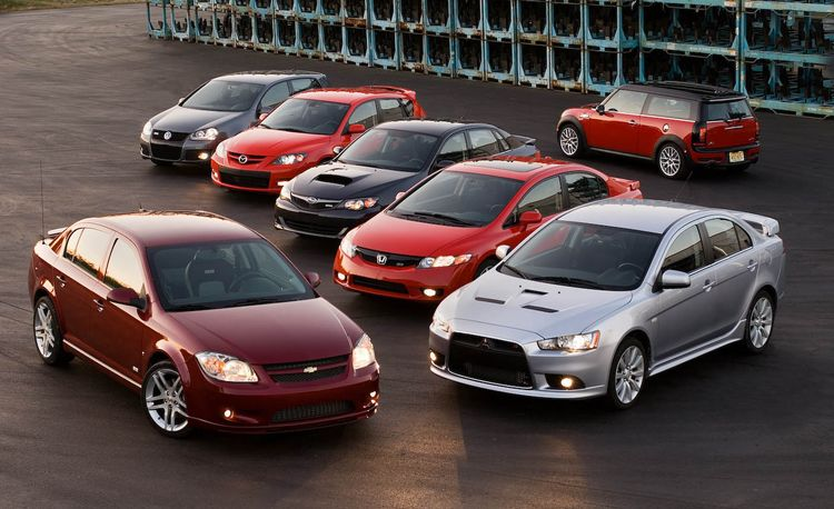 Chevy Cobalt SS vs. '09 WRX, Mazdaspeed 3, and Four Other Sport Compacts