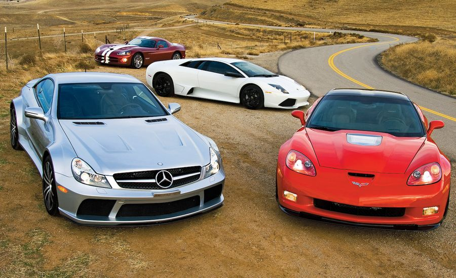 Corvette ZR1 vs. SL65 AMG Black Series, Murcielago LP640, Viper SRT10