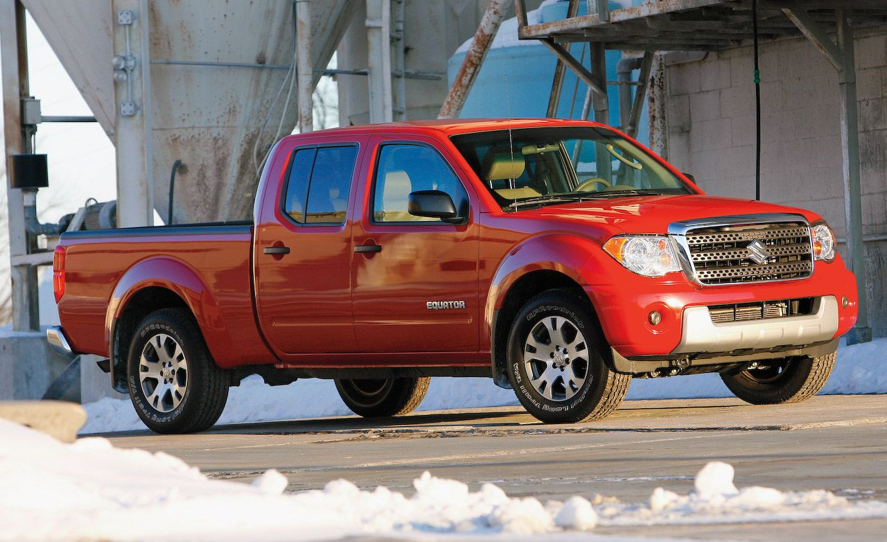 2009 suzuki equator crew cab sport 4wd instrumented test car and driver