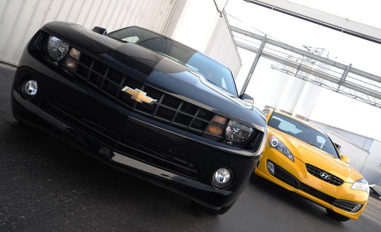 2010 Chevrolet Camaro V6 LT vs. 2010 Hyundai Genesis Coupe 3.8 V6
