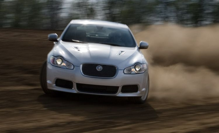 2010 Jaguar XFR Dirt Track Drifting