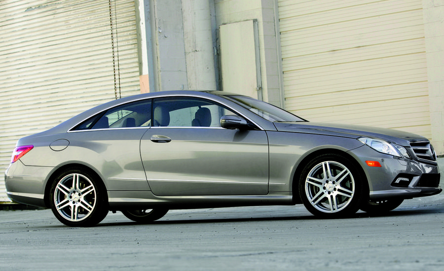 2010 mercedes benz e550 coupe instrumented test car. Black Bedroom Furniture Sets. Home Design Ideas