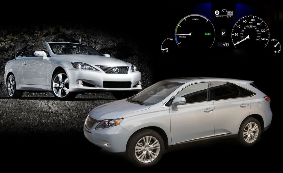 2010 Lexus RX450h and IS Convertible Pricing Announced