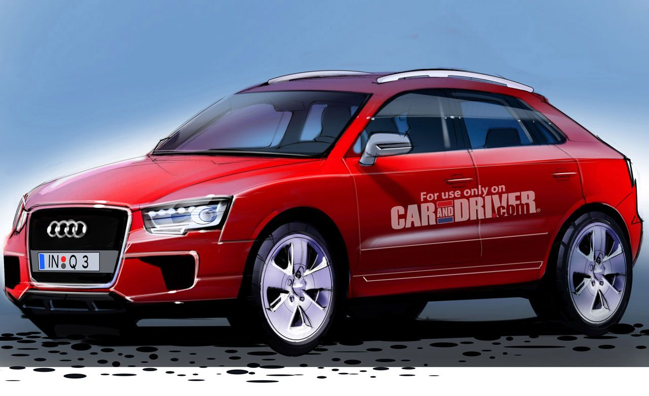 Audi q3 reviews audi q3 price photos and specs car and driver 2012 audi q3 confirmed sciox Image collections