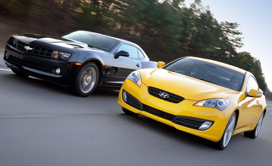 2010 Camaro V6 vs. Genesis Coupe V6