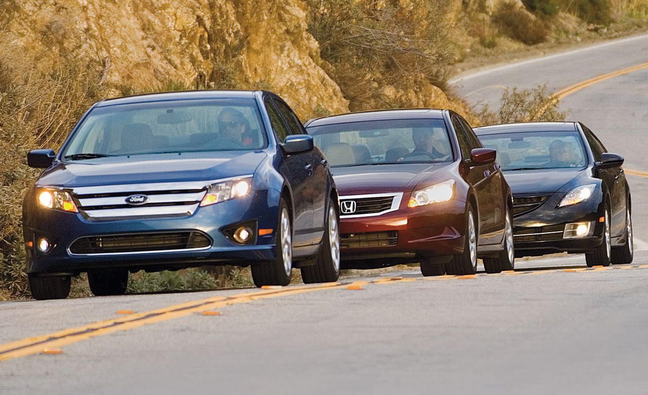 2010 Ford Fusion Vs Mazda 6 Honda Accord 8211 Comparison Test Car And Driver