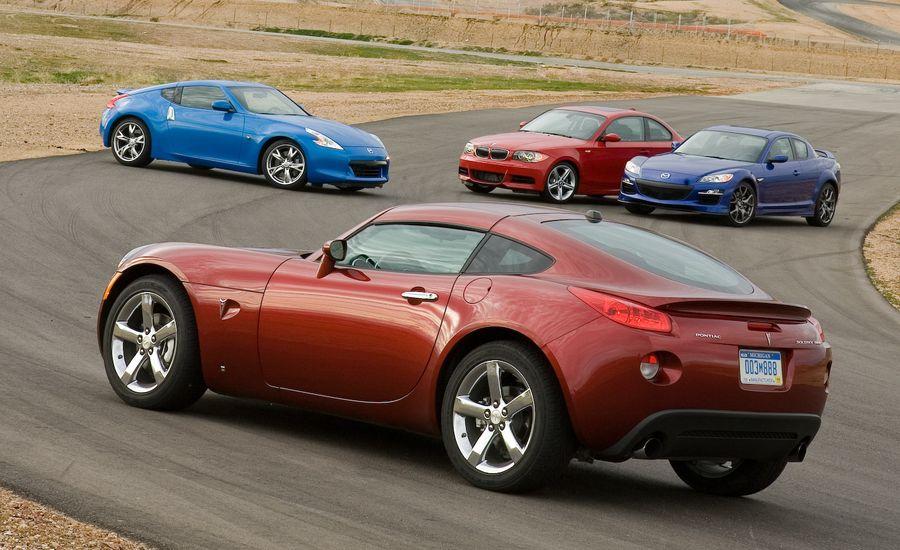 Nissan 370Z vs. BMW 135i, Mazda RX-8 R3, and Pontiac Solstice GXP