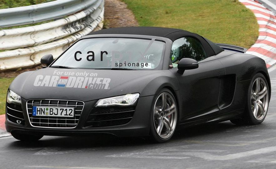 2011 Audi R8 Spyder 5.2 V-10 (spy photo) - Slide 2