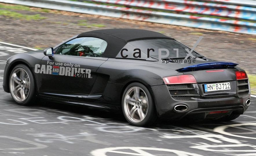 2011 Audi R8 Spyder 5.2 V-10 (spy photo) - Slide 5