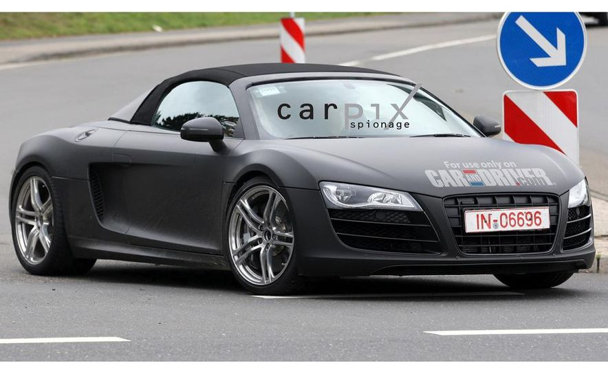 2011 Audi R8 Spyder 5.2 V-10 (spy photo) - Slide 8