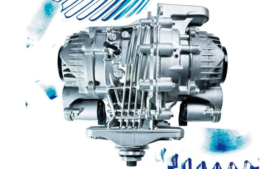 BMW Dynamic Performance Control torque-vectoring system and gearbox - Slide 6