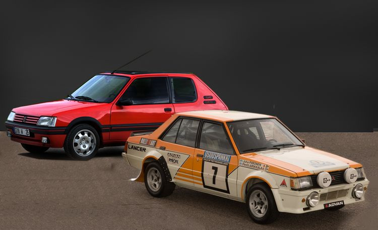 Overseas Desires: Peugeot 205 GTI, Mitsubishi Lancer EX 1800 GSR Turbo Intercooler