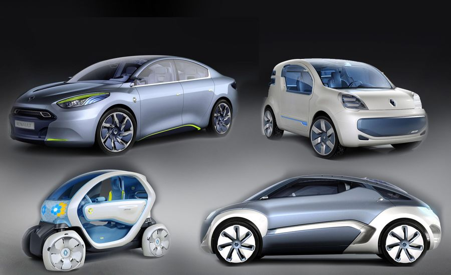 Renault Twizy, Zoe, Fluence, and Kangoo Electric Vehicles