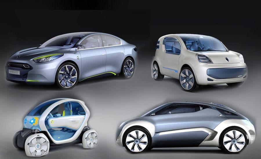 Renault Twizy Zoe Fluence And Kangoo Electric Vehicles