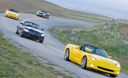 2009 Porsche Boxster S vs. BMW Z4 sDrive35i, Audi TTS, Chevrolet Corvette