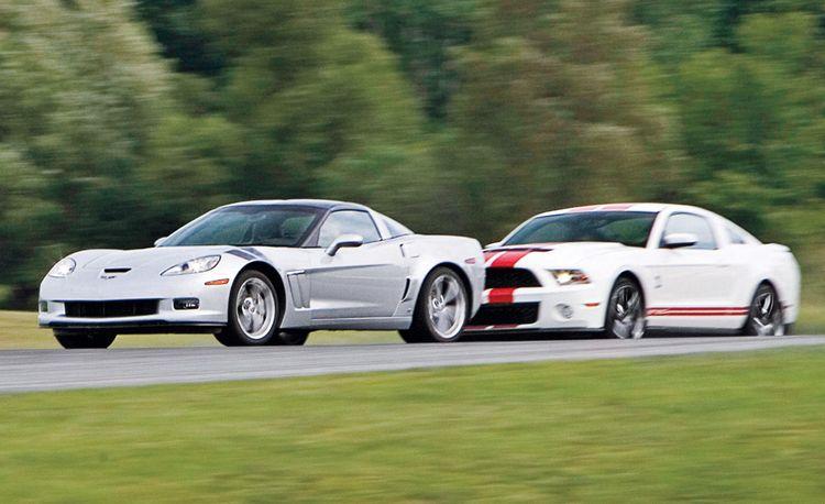 2010 Chevrolet Corvette Grand Sport vs. 2010 Ford Shelby GT500
