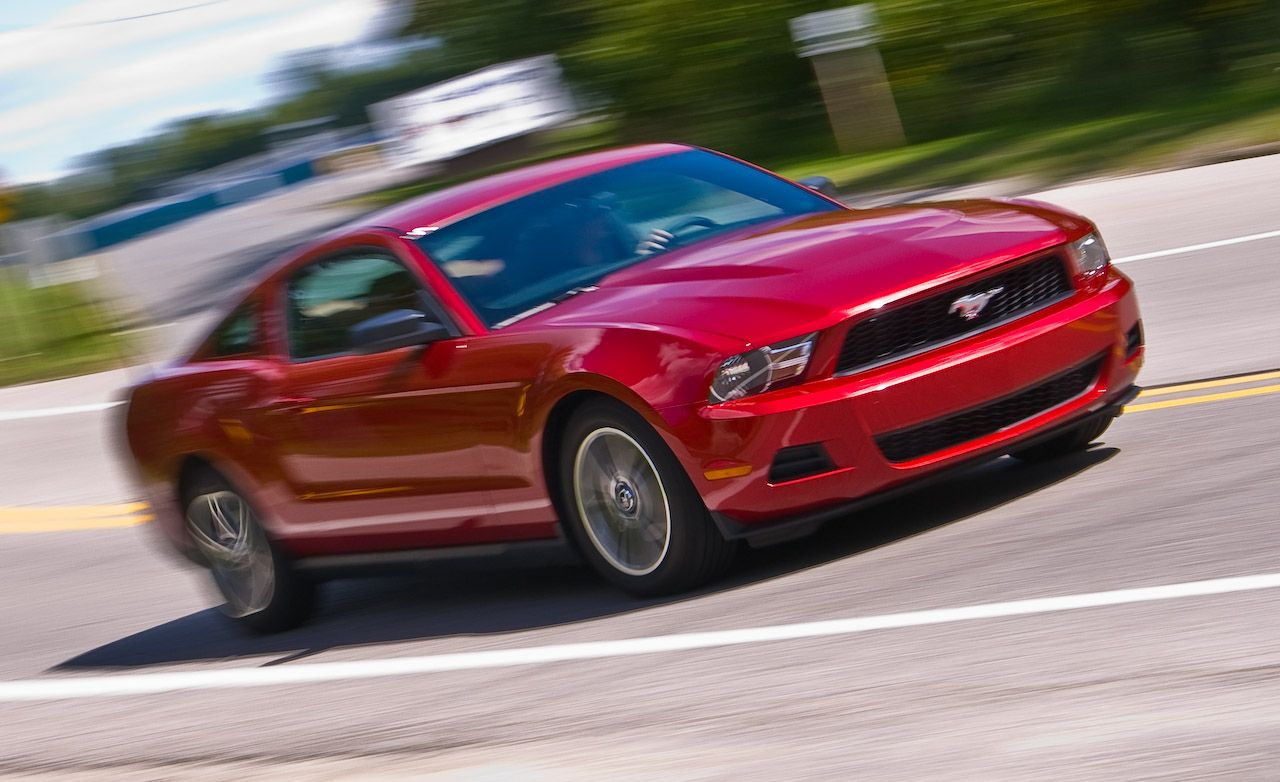 2010 Ford Mustang V6 Road Test Review Car And Driver