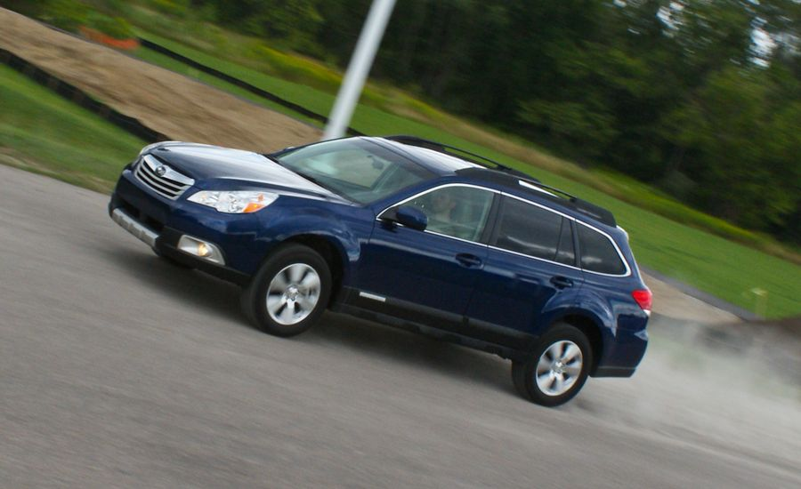 2010 subaru outback 3 6r instrumented test car and driver. Black Bedroom Furniture Sets. Home Design Ideas