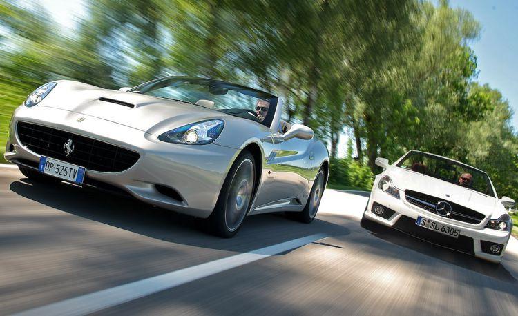 2009 Ferrari California vs. 2009 Mercedes-Benz SL63 AMG
