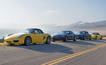 2009 Porsche Boxster S vs. BMW Z4 sDrive35i, Audi TTS, Chevy Corvette