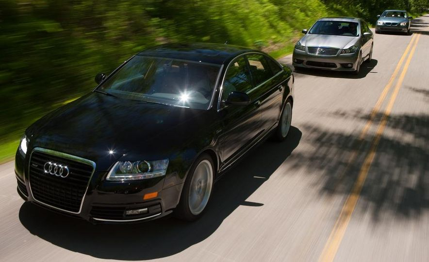 2009 Jaguar XF, 2010 Mercedes-Benz E350, 2009 Audi A6 3.0T Quattro, 2009 Infiniti M45, and 2009 BMW 535i - Slide 14