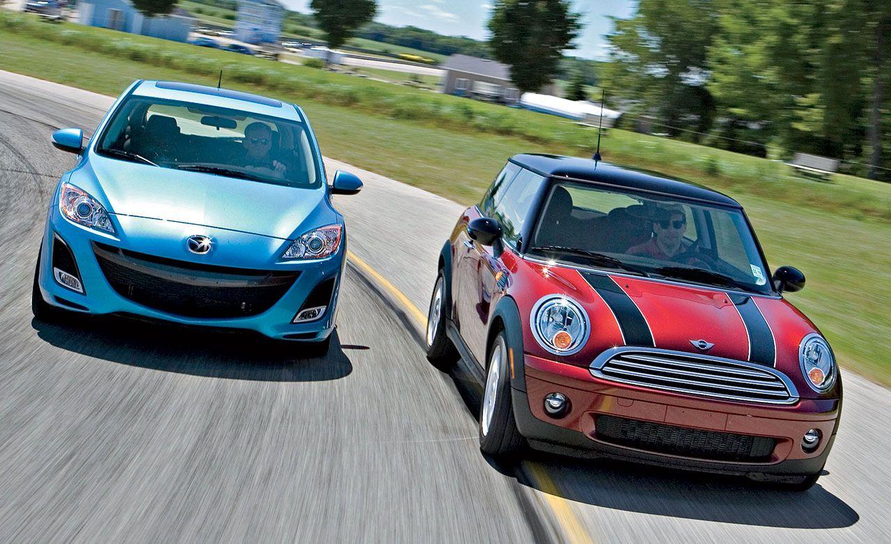 2010 Mazda 3 and 2009 Mini Cooper