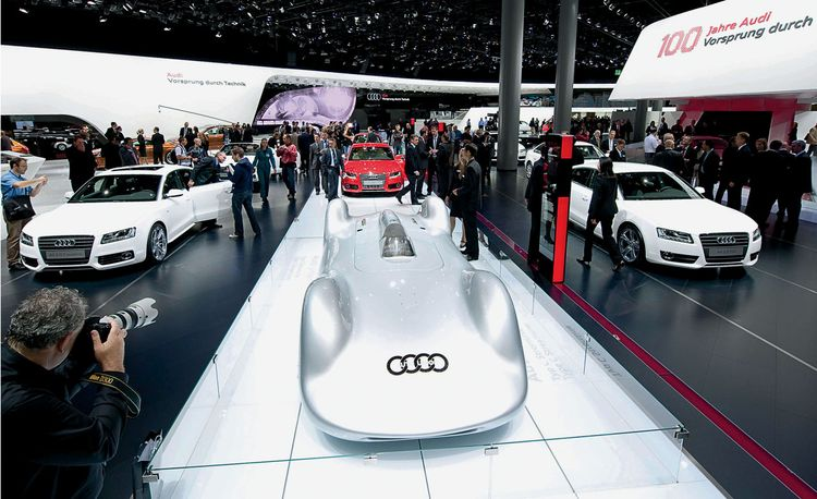 The Layout and Breakdown of Audi's Stand at the 2009 Frankfurt Auto Show