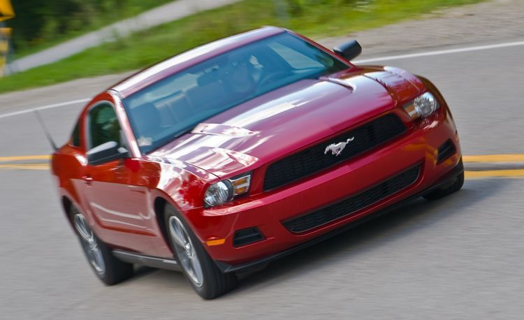 2010 ford mustang v6 road test review car and driver. Black Bedroom Furniture Sets. Home Design Ideas