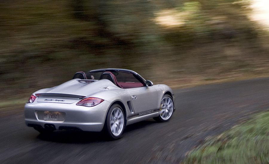 2011 porsche boxster spyder review car and driver. Black Bedroom Furniture Sets. Home Design Ideas