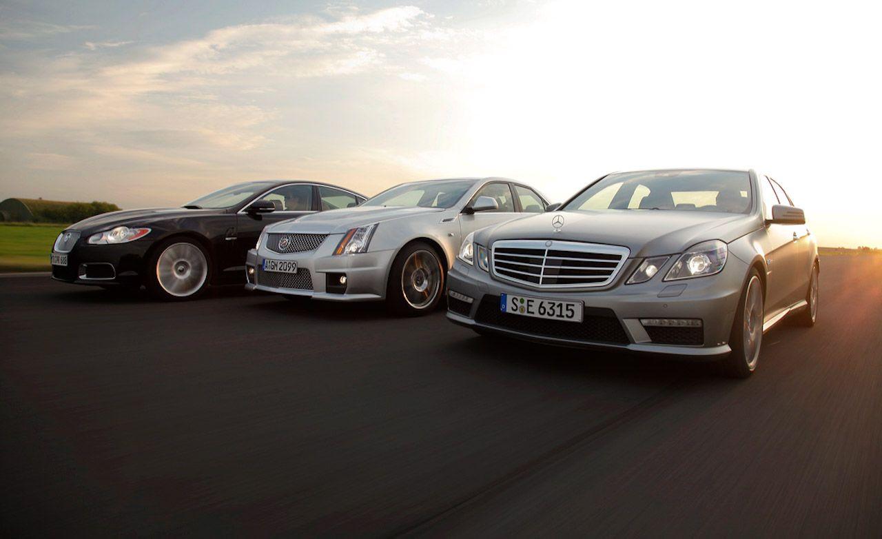 2009 Cadillac CTS-V vs. 2010 Jaguar XFR, 2010 Mercedes-Benz E63 AMG