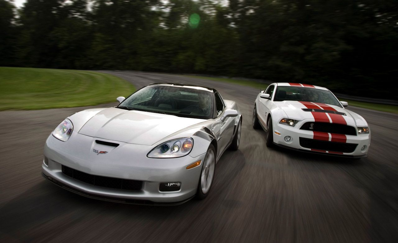 Mercedes Benz Silver Lightning Price >> 2010 Chevy Corvette Grand Sport vs. 2010 Ford Mustang Shelby GT500 | Comparison Test | Car and ...